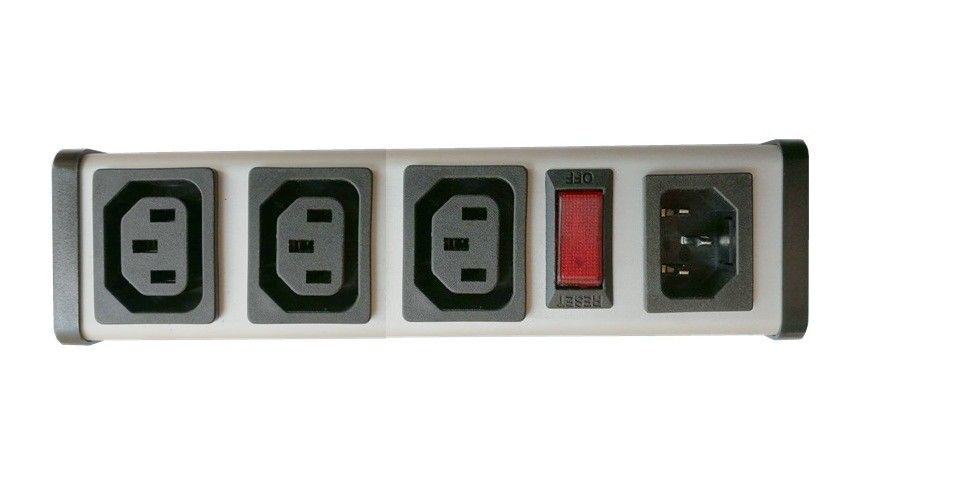 UL C-UL list 3Way IEC Output Socket Built in 15A Overload Protector Outlets Power Strip
